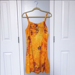 Vintage Palm Tree Dress